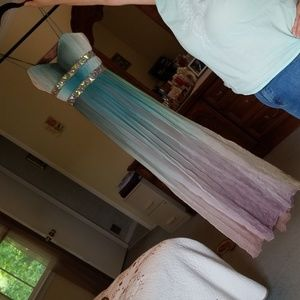 Womens mermaid ombre gown